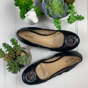 MICHAEL Michael Kors Shoes - 🌵 Michael Kors Black Quilted Logo Ballet Flats